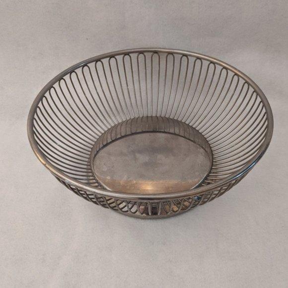 Fraser's Stainless Wire Basket Bowl MCM Vintage